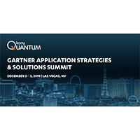 Gartner Application Strategies & Solutions Summit, Las Vegas – December 2020