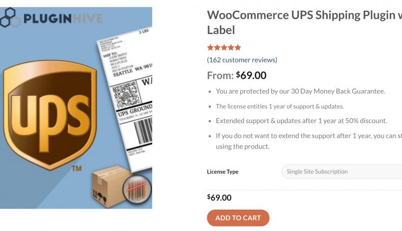 Woocommerce UPS plugin
