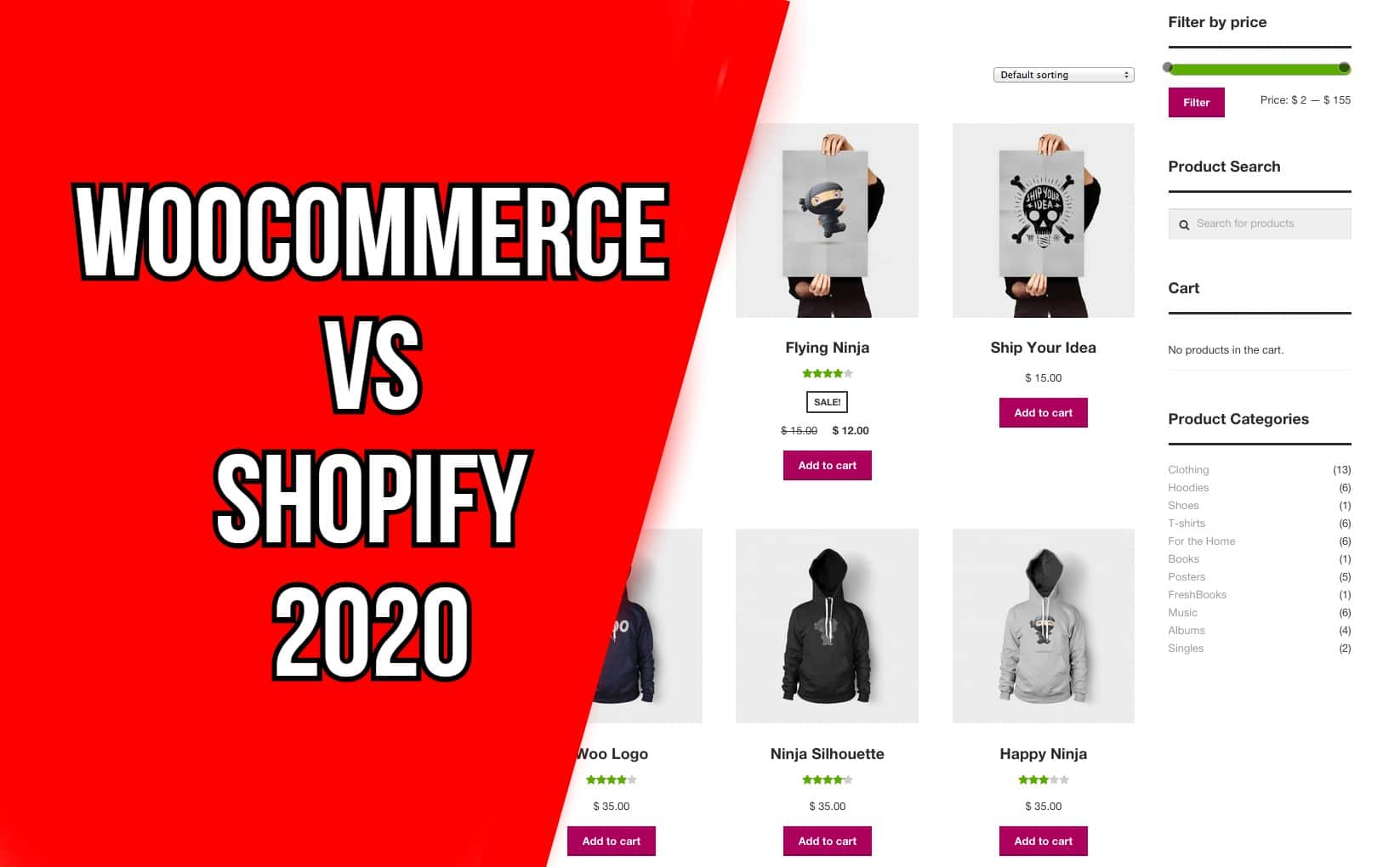 WooCommerce vs Shopify 2020