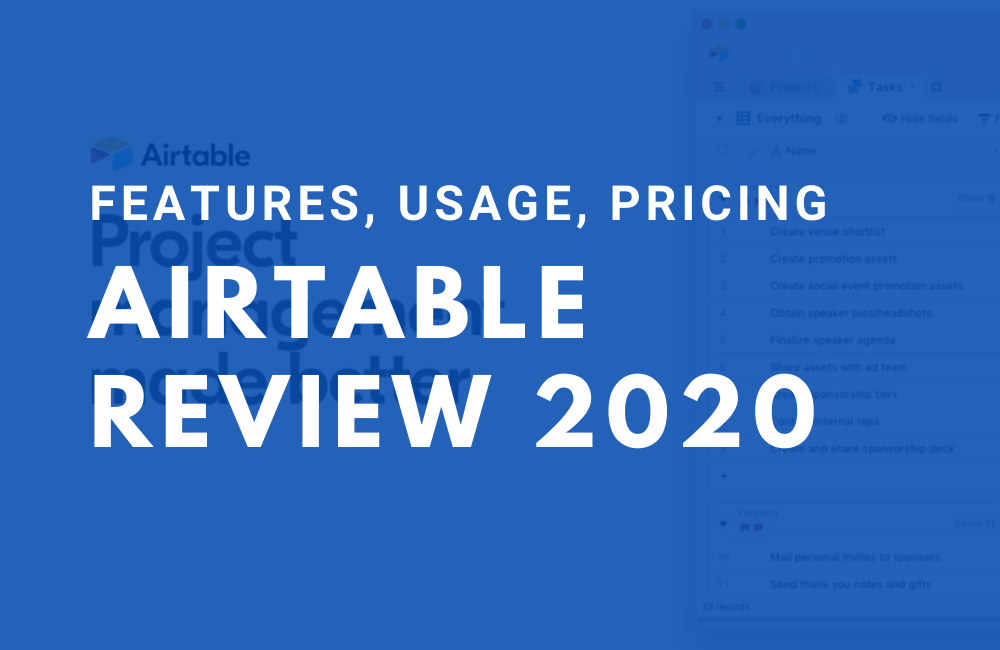 Airtable Review 2020