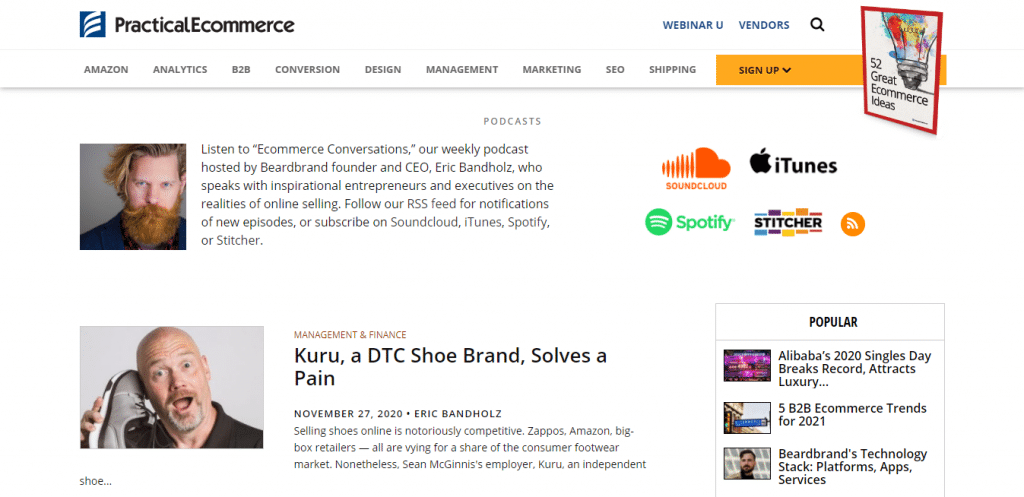 Ecommerce Conversation From Practical Ecommerce