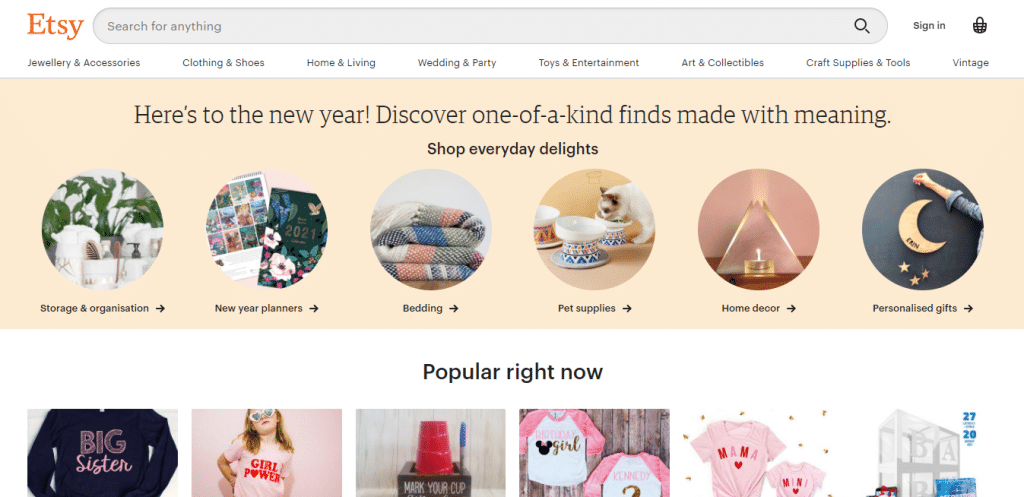 Etsy; One of the Best Marketplaces for Handmade Goods