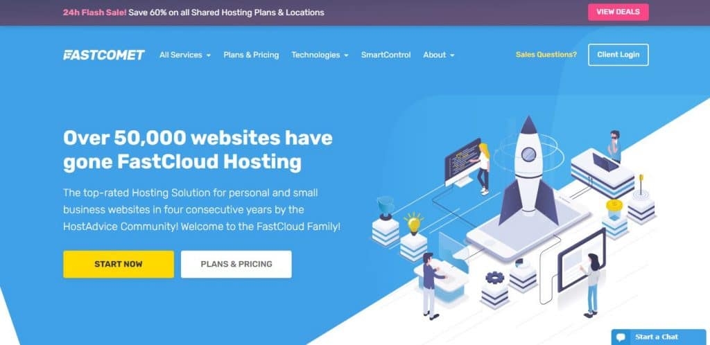 FastComet: A convenient Web Hosting for e-commerce
