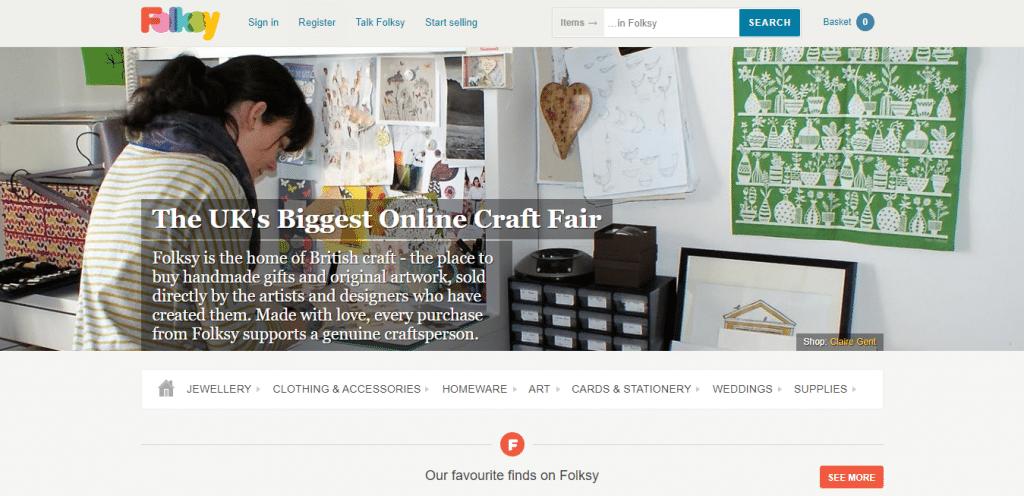 Folksy; online craft marketplace