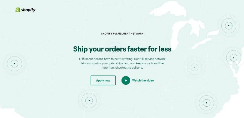 Shopify Fulfillment Network; one of the best eCommerce Fulfillment Services